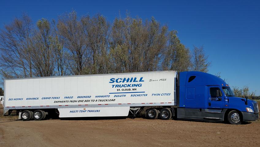 Schill Trucking Multi-Temp Trailer